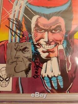 Wolverine #1 9.8 CGC Signed Stan Lee Miller Claremont Sketch by Joe Rubinstein