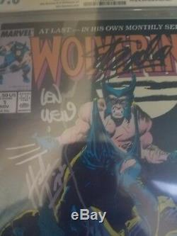 Wolverine #1 (Nov 1988, Marvel) CGC 9.6 signed by Stan Lee, Wein and Trimple