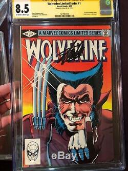 Wolverine Limited Series #1 Cgc 8.5 Ss Signed Stan Lee 1st Solo