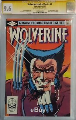 Wolverine Limited Series #1 Cgc 9.6 Ss Signed Stan Lee