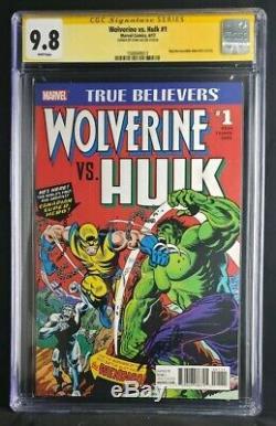 Wolverine vs. Hulk 1 9.8 CGC Signed STAN LEE