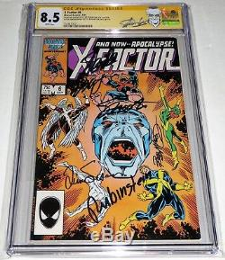 X-Factor #6 1st Appearance of Apocalypse CGC SS 6x Signed STAN LEE MCLEOD SHOOT