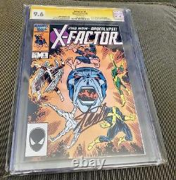 X-Factor #6 CGC 9.6 SS Signed Stan Lee 1st full Apocalypse
