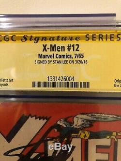 X-MEN 12 CGC SS 5.0 STAN LEE SIGNED Origin and first appearance of Juggernaut