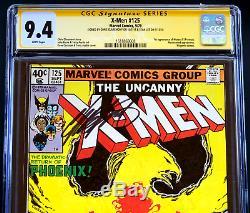 X-MEN #125 CGC 9.4 WP SS 2X SIGNED STAN LEE + CLAREMONT 1st Proteus Phoenix
