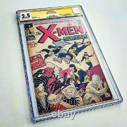 X-Men #1 1963 Signed by Stan Lee SS Yellow Label CGC 2.5 BOLD Autograph