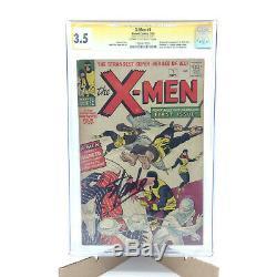 X-Men #1 CGC 3.5 Signed by Stan Lee (1963) Marvel Comics