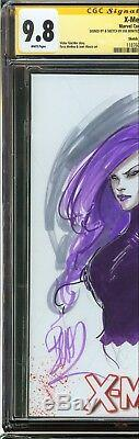 X-Men #1 CGC 9.8 NM/MT SIGNED 2x STAN LEE & JOE BENITEZ SKETCH COVER VARIANT