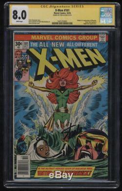 X-Men #101 CGC 8.0 White Pgs Clean Stan Lee Signature Series 1st Phoenix Signed