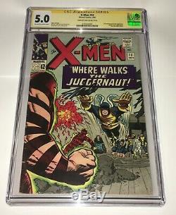 X-Men #13 CGC 5.0 2nd Juggernaut SS Signature Series Signed Stan Lee