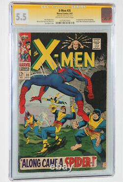 X-Men 35 CGC 5.5 SS Signed Stan Lee Spider-Man Appearance KEY! Silver age! OWithWT