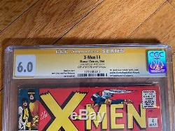 X-Men 4 CGC 6.0 Signed By Stan Lee