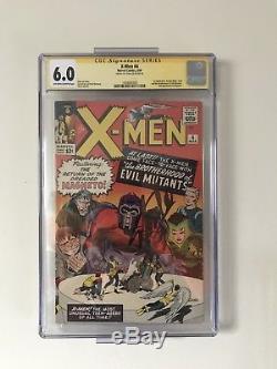 X-Men #4 (Mar 1964, Marvel) CGC 6.0 Signed Stan Lee