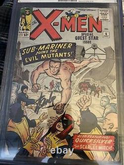 X-Men #6 CGC 2.0 Signed By Stan Lee 3rd Appear Scarlet Witch Namor Appearance