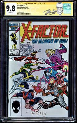X-factor #5 Cgc 9.8 Ss Stan Lee Signed 1st App. Of Appocalypse #1206482019
