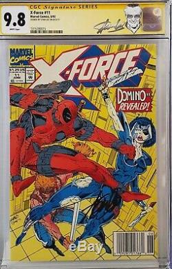 X-force #11 Cgc 9.8 Ss Signed Stan Lee 1st Domino Hatf Newsstand Version 015