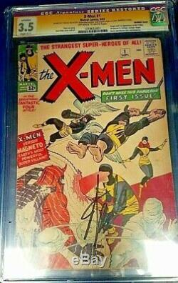 X-men #1 CGC GRADED 3.5 SIGNED BY STAN LEE