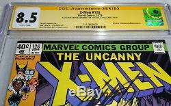 X-men #126 CGC 8.5 SS Signed X 2 Chris Claremont, Stan Lee
