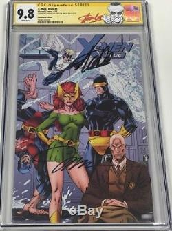 X-men Blue #1 Signed by Stan Lee & Jim Lee CGC 9.8 SS 11000 Remastered Variant